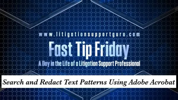 This fast tip demonstrates how to search for email addresses, social security numbers, credit card numbers and dates within a PDF file and then redact any personal identifying information (PII).   Download Sample Files