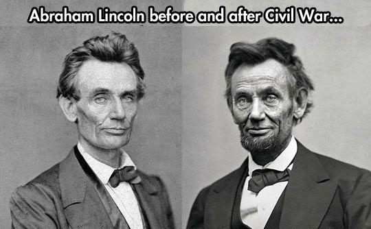 Before and after the civil war...