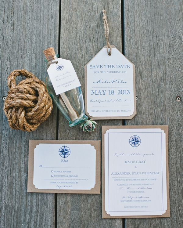 nautical invitation suite | Faith Teasley #wedding