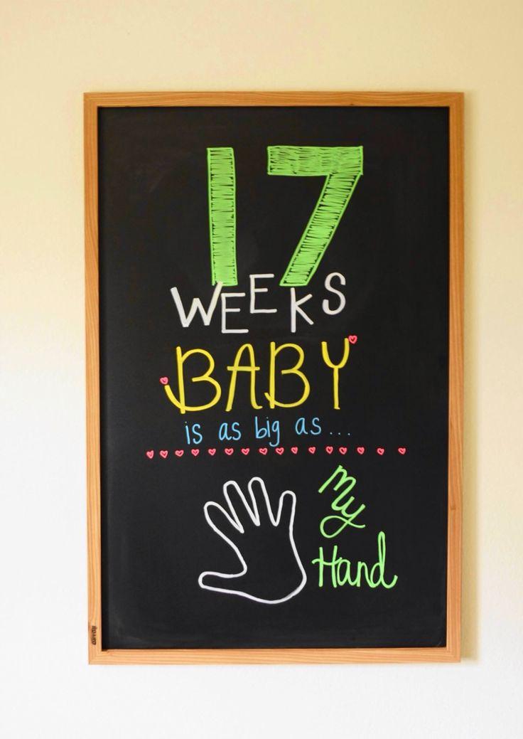 17 weeks pregnancy chalkboard