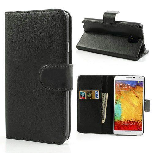 Zwart 3-in-1 bookcase hoesje voor Samsung Galaxy Note 3