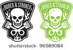 Skull and pistons logo inspired by Brando in The Wild One.