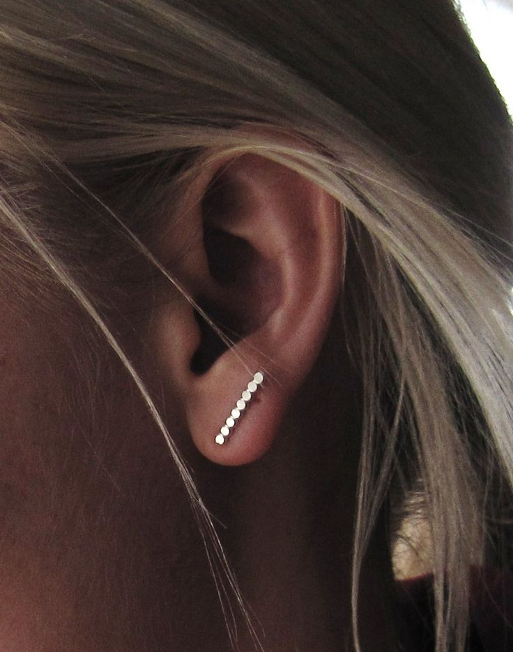 Sterling Silver Beaded Texture Post Earrings. They would go perfectly with t-shirts or any casual outfits.