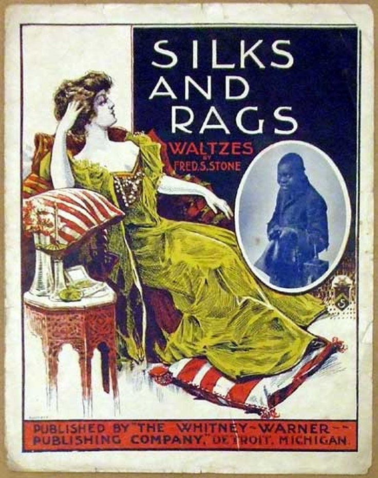 1901 Black Americana Victorian Sheet Music Cover Only - Silks and Rags. $30.00, via Etsy.