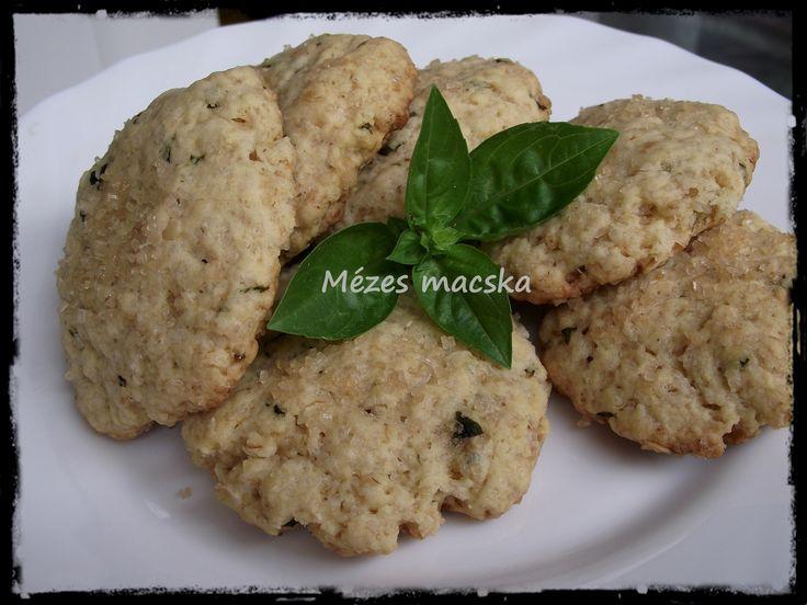 Citromos bazsalikomos keksz - Lemon cookies with basil