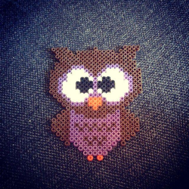 Owl perler beads by ariel_lommelerke