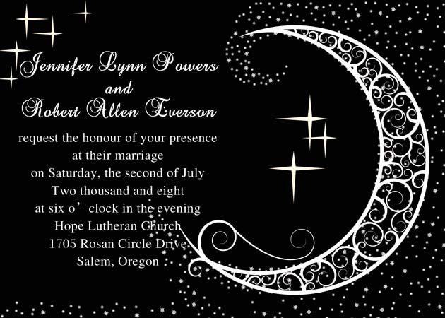 Amazing Moon & Stars Themed Weddings and Wedding Invitations |