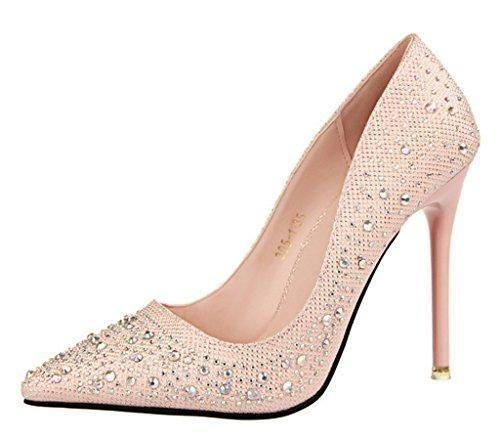 Oferta: 19.93€. Comprar Ofertas de Minetom Mujer Primavera Dulce Boda Zapatos de Tacón Elegante Brillante Rhinestone Zapatos Tacón Alto Zapatos Pumps Stiletto R barato. ¡Mira las ofertas!