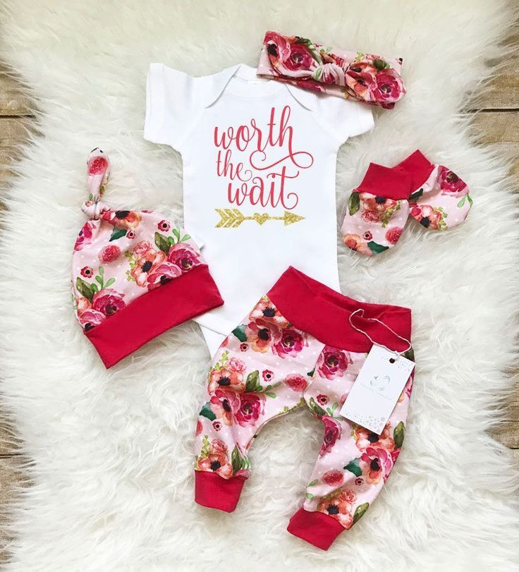 Newborn Baby Girl Outfit Baby Girl Coming Home Outfit Worth the Wait Baby Girl Leggings Floral Rose Outfit Baby Shower Gift Mittens by LLPreciousCreations on Etsy https://www.etsy.com/listing/516578288/newborn-baby-girl-outfit-baby-girl