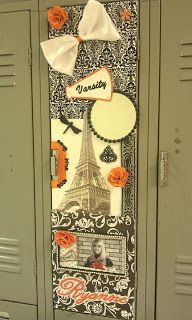 DECORATED RYANNE'S LOCKER FOR CHEERLEADING!  #Locker #Decoration