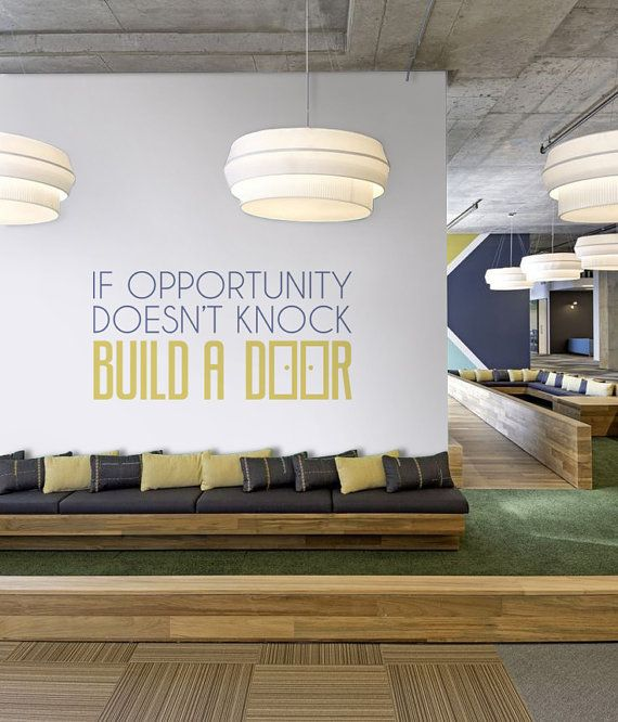 The 25 best office wall graphics ideas on pinterest Art for office walls