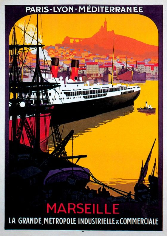 FRANCE - Marseilles - Roger Broders Marseille / Exposition Nationale Coloniale 1922 #Vintage #Travel