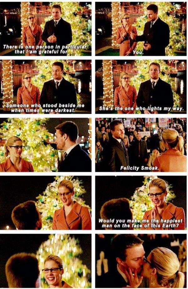 Arrow - Oliver & Felicity #4.9 #Season4 #Olicity <3<3<3