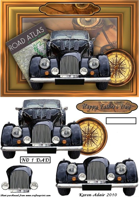 BELLE VOITURE - 3D card topper
