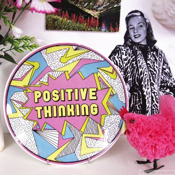 Positive Thinking Plate - Online Shop
