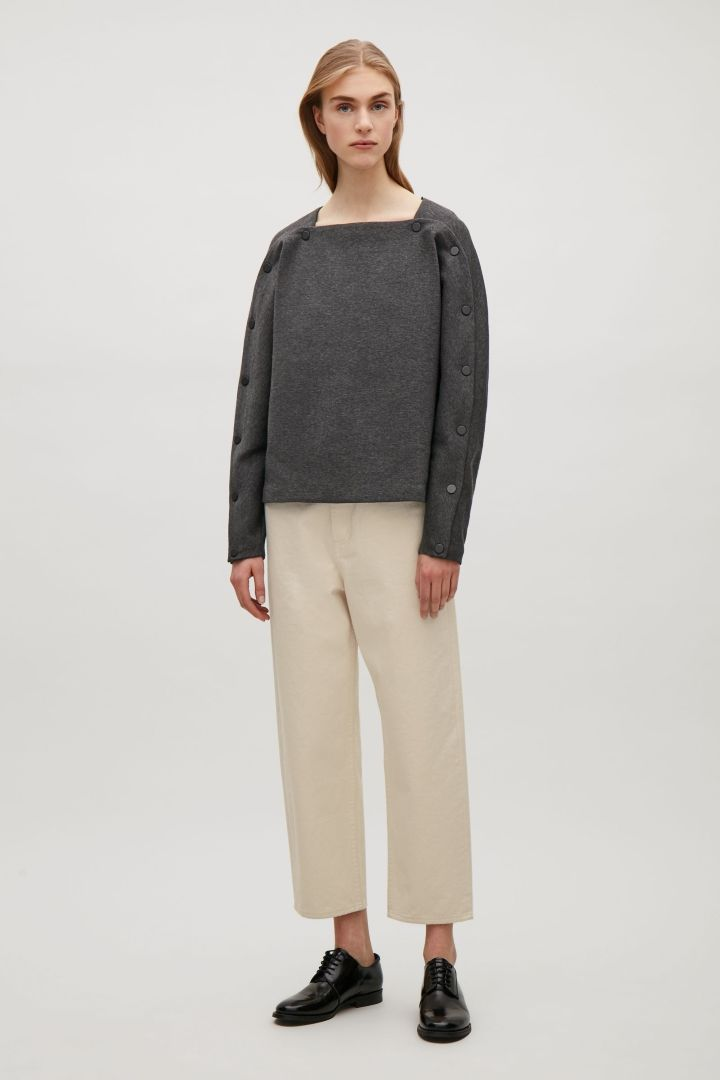 COS | Top with button detailed sleeves