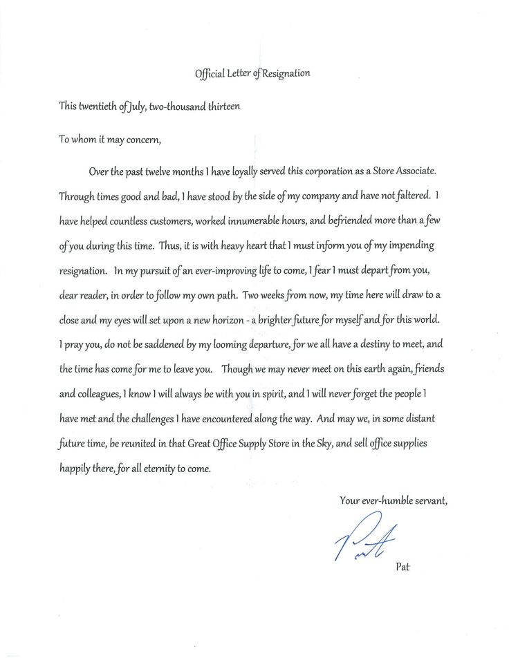 Best 25+ Sample of resignation letter ideas on Pinterest Sample - sample letters of resignation