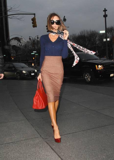 #High waist pencil skirt