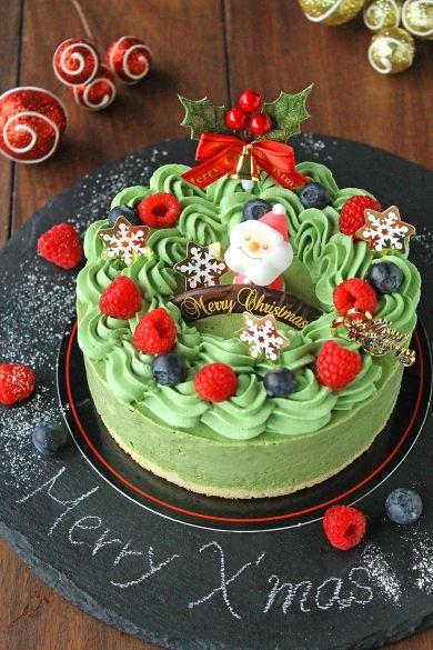 「クリスマスリース風抹茶のアイスケーキ」ぱお | お菓子・パンのレシピや作り方【corecle*コレクル】