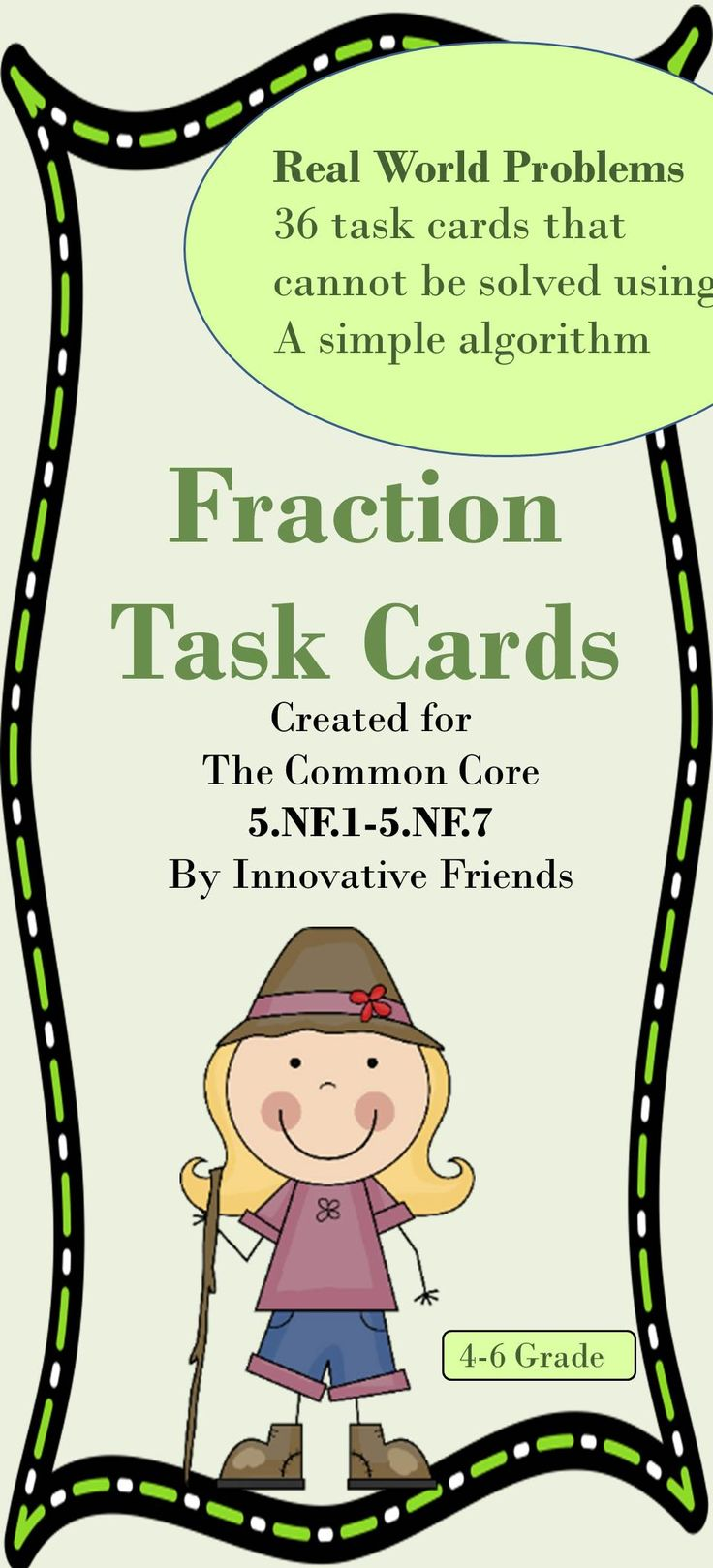 Fraction task cards to engage all learners with quality questions