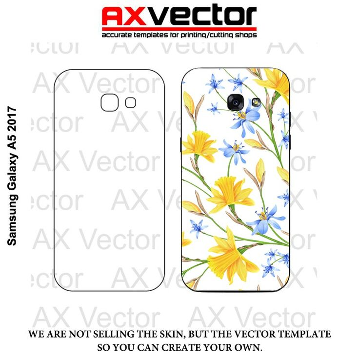 Samsung Galaxy A5 2017 Vector Template, Contour Cut File.