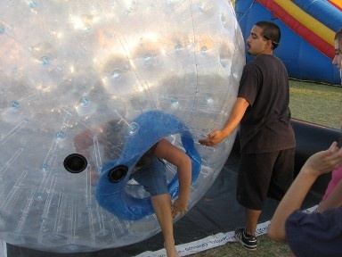 Zorb Balls can also be called Human Hamsterballs. They are our most popular item with Kids and Teens right now. http://partyprofessionals.com/az-attractions/zorb-balls-teen-fun/