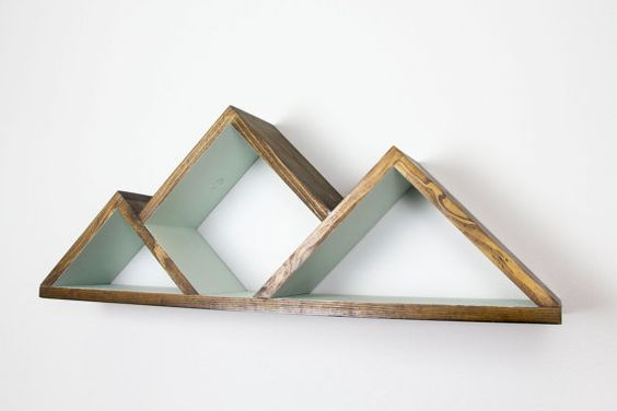 Geometric Mountain Shelf - Shelves - Shelving - Triangle Shelf ...