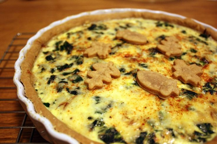 Caramelized Onion & Spinach Quiche | Food | Pinterest