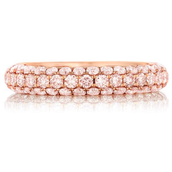 pink diamond and rose gold ring