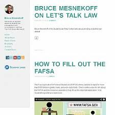 Nationally-recognized expert in student loan management and consolidation. Get Free Tips from Bruce Mesnekoff.  http://brucemesnekoff.blogspot.com/  #Bruce_mesnekoff