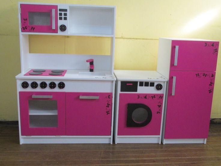 Mueble cocina infantil juego infantil madera 18092 for Cocina infantil madera