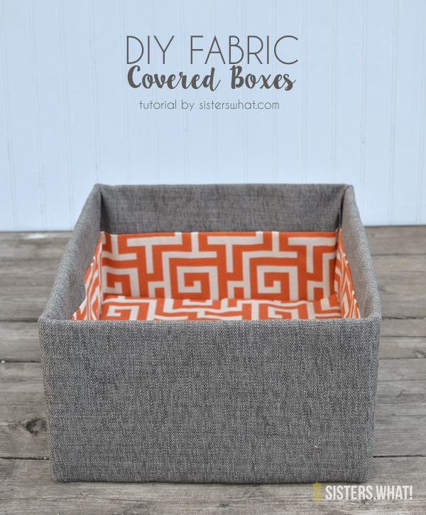 Amazing!! these DIY fabric covered boxes were made out of cardboard boxes