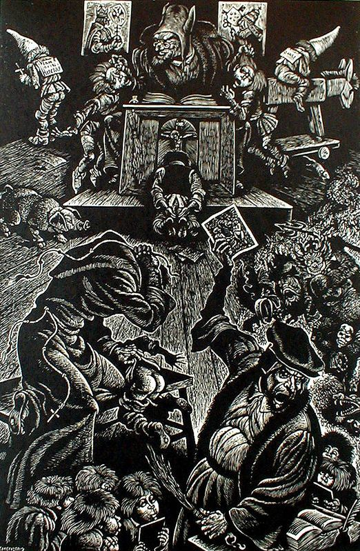 The-Follies-of-Teaching-from-In-Praise-of-Folly-Portfolio-of-10-woodcuts-by-Fritz-Eichenberg.jpg (522×799)