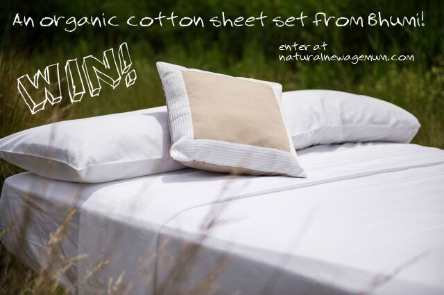 Bhumi Organic Cotton Giveaway. Day four of The Great Christmas Giveaway Week is an organic cotton sheet set from Bhumi.