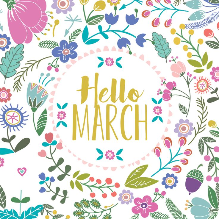 """Hello March!      (""""Hello March 1st! One of my four favorite days lol."""")"""