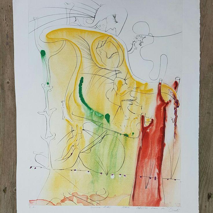 """J'ai retrouvé 3 lithographies qui me plaisent beaucoup. Voici la première de la série """"La Conquête du Cosmos"""" de Salvador Dali 😄 * Found 3 lithographs back which I like a lot. Here's the first from the serial """"La Conquête du Cosmos"""" from Salvador Dali 😄"""