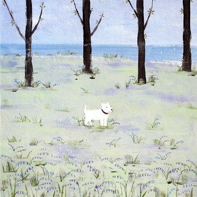 In The Bluebell Woods Original Canvas