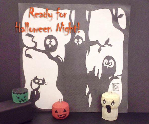 Halloween craft with wine corks - decorazioni halloween fai da te con tappi di sughero - DiManoInManina