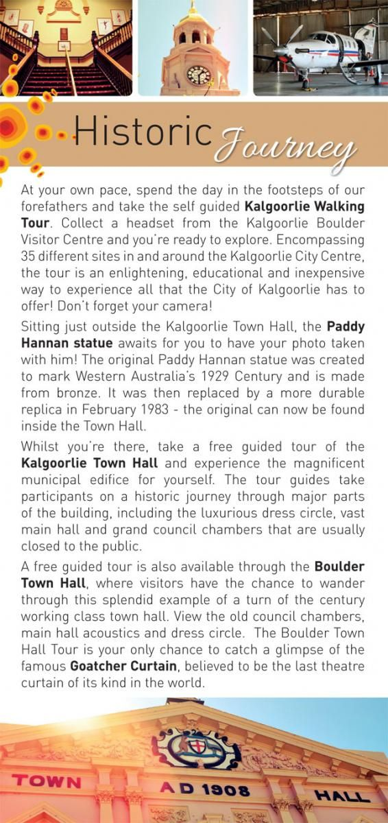 Historic Journey | Kalgoorlie Boulder Tours Accommodation Information