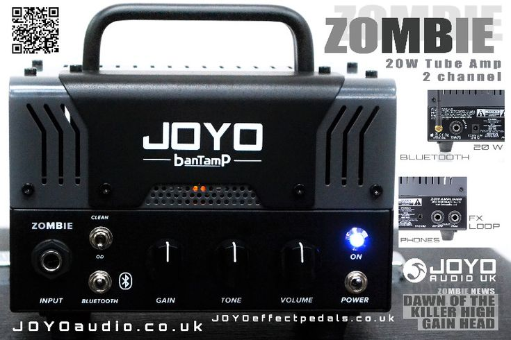 JOYO Zombie 20w Tube Guitar Amp Head - High Gain, Buy JOYO Guitar Amplifiers  - JOYO Zombie Micro Guitar AmpheadThe JOYO Zombie micro guitar amp head blends valve and solid state guitar amplifier technology, resulting in a tiny amp head that can produce a