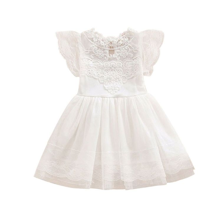 >> Click to Buy << White Baptism Petal Hem Tulle Princess Dress For Toddler Girls Pageant Clothes School Baby Girl Kids Dresses Children Clothing #Affiliate