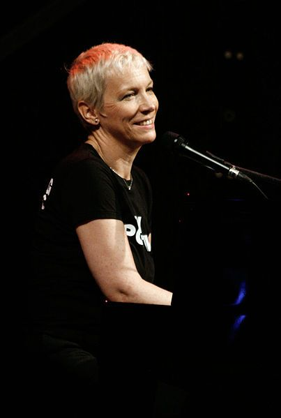 "Ann ""Annie"" Lennox, OBE (born 25 December 1954) is a British singer-songwriter, political activist and philanthropist. After achieving minor success in the late 1970s as part of the New Wave band The Tourists, she and fellow musician David A. Stewart went on to achieve major international success in the 1980s as Eurythmics."