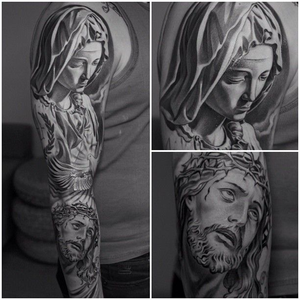 #tattoo #religious #jesus #madre