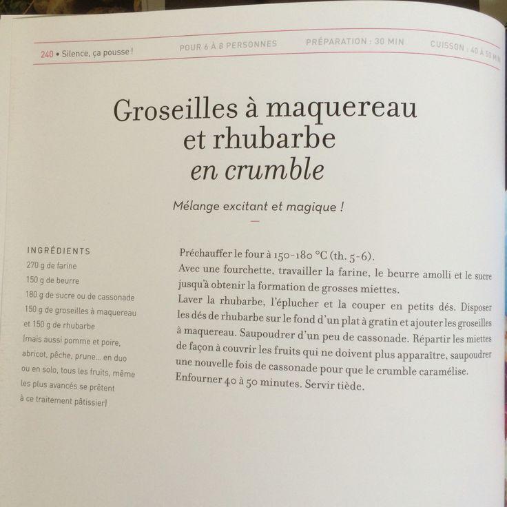 Groseilles à maquereau et rhubarbe en crumble, selon Stéphane Marie