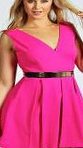 boohoo Belted Plunge Neck Skater Dress - pink pzz99604 With its flattering fit and flare shape, this skater dress is a fail-safe option for entrance-making eveningwear. We love how it looks with leg- lengthening platform heels , a studded clutch bag and s http://www.comparestoreprices.co.uk/dresses/boohoo-belted-plunge-neck-skater-dress--pink-pzz99604.asp