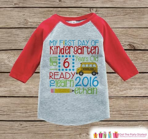 This adorable outfit is perfect for your child's first day of school! - Please include the name and age you would like in the Notes to Seller box during the checkout process. Our graphics are professi