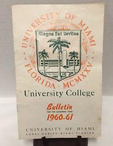 University-of-Miami-College-Bulletin-1960-61-Academic-Year-Florida-Calendar