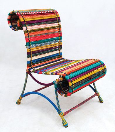 I love this chair made from recycled cloth
