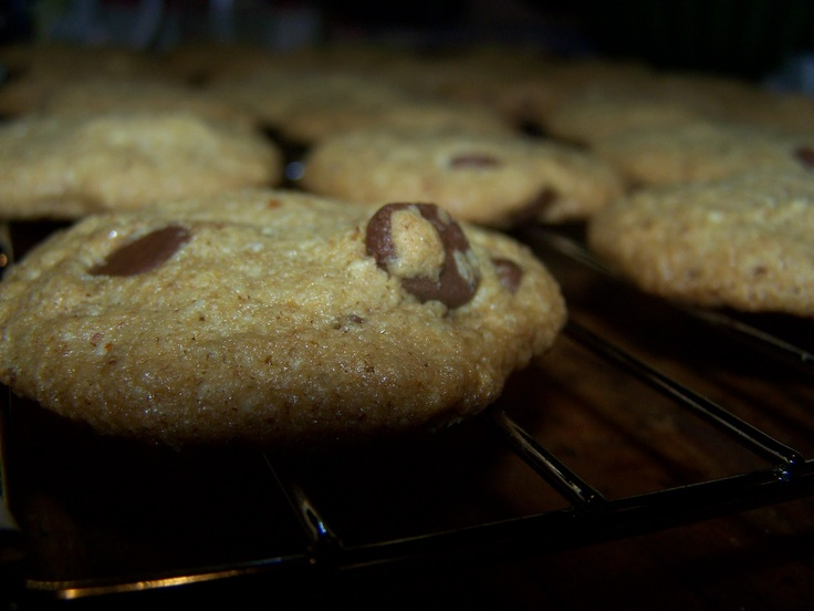 Whole Wheat Chocolate Chip Cookies mad with coconut oil, they are ...