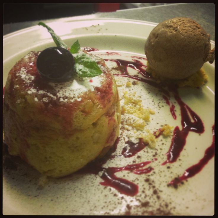 Zuccotto di panettone Panettone pudding filled with mascarpone, chocolate and walnuts. Served with cinnamon gelato.